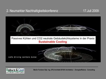 Vortrag Nachhaltigkeitskonferenz (13.07.2009) - IEM Forstner