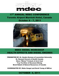 17th ANNUAL MDEC CONFERENCE Toronto Airport Marriott Hotel ...