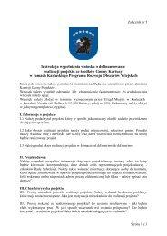 Instrukcja wypełniania wniosku o dofinansowanie realizacji projektu