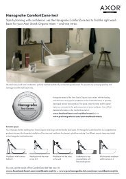 Which Laufen wash basin matches Axor Starck Organic? - Hansgrohe