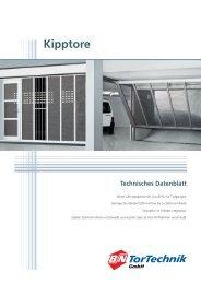 Prinzipzeichnung Kipptore - B+N TorTechnik