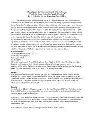 Pacific Northwest Fantasyland Maple Adventure - The Maple Society