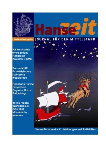 Nullnummer HanseZeit: Als Editoral auf der ... - Hanse-Parlament