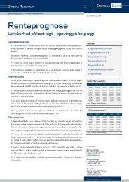 Usikkerhed på kort sigt - Danske Analyse - Danske Bank