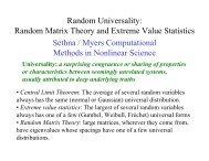 Random Universality: Random Matrix Theory and Extreme Value ...
