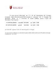 Ai sensi e per gli effetti degli artt. 27 e 29, del ... - Civica Roma 19