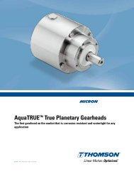 AquaTRUE™ True Planetary Gearheads - Thomson