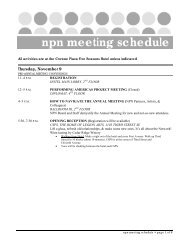 npn meeting schedule - National Performance Network