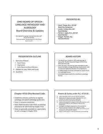 Full Board Meeting Minutes Speech Language Pathology And