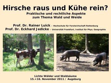 Hirsche raus und Kühe rein? - Prof. Dr. Eckhard Jedicke