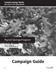 Campaign Guide - Canada Savings Bonds