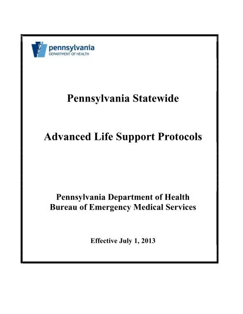 Statewide ALS Protocols - Delaware County Courthouse and