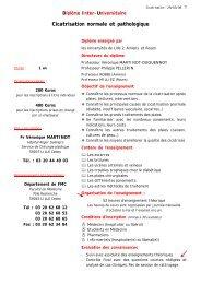 Programme et modalités d'inscription - Diplôme universitaire de ...