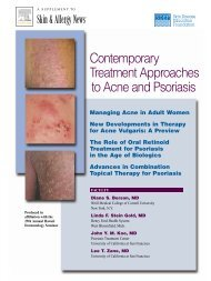 Contemporary Treatment Approaches to Acne and Psoriasis