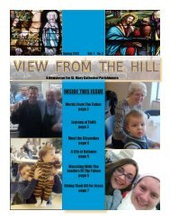 Parish Newsletter - The Cathedral of St. Mary of the Immaculate ...