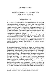 The incompatibility of free will and determinism - Andrew M. Bailey