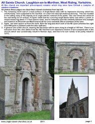 All Saints Church. Laughton-en-le-Morthen, West Riding, Yorkshire.
