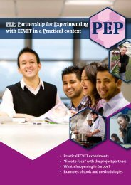 PEP: Partnership for Experimenting with ECVET in a ... - EVTA