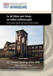In de klem van heup- en enkel arthroscopie - Nederlandse ...
