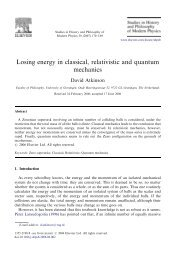 Losing energy in classical, relativistic and quantum mechanics