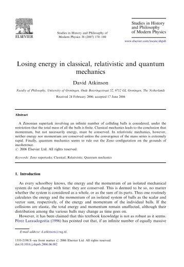 Losing energy in classical, relativistic and quantum mechanics