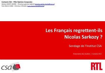 Les Français regrettent-ils Nicolas Sarkozy - RTL
