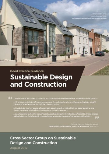 Sustainable Design and Construction - Royal Town Planning Institute