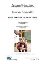Fachgruppe Kinderschutz der schweizerischen Kinderkliniken