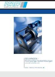 SEILWINDEN - Hochwertige Systemlösungen - Pfaff-silberblau