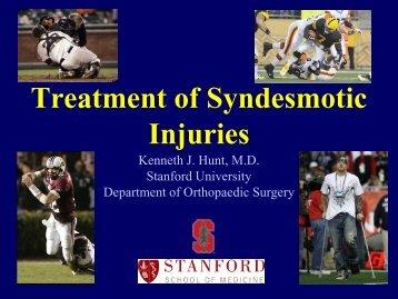 Sydesmotic Injuries - California Orthopaedic Association