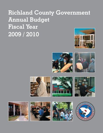 Richland County Government Annual Budget Fiscal Year 2009 / 2010