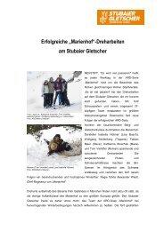 """Erfolgreiche """"Marienhof""""-Dreharbeiten am Stubaier Gletscher"""