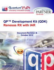 QDK Renesas RX with IAR - Quantum Leaps