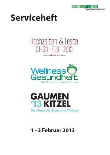 Serviceheft Wellness und Gesundheit 2013 - Wellnessmesse.at