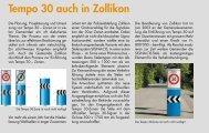 Tempo 30 auch in Zollikon