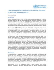 Clinical management of human infection with pandemic (H1N1 ...