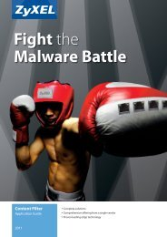 Fight the Malware Battle - ZyXEL