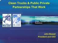 Clean Trucks & Public Private Partnerships That Work