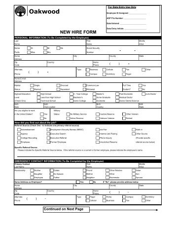 hire form