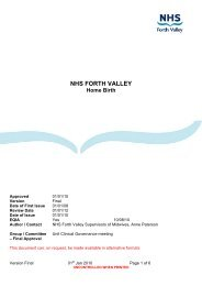 NHS FORTH VALLEY Home Birth