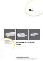 Dimmable LED Constant Current Drivers - Vossloh