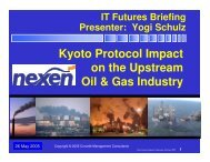 Kyoto Protocol Impact - Corvelle Consulting