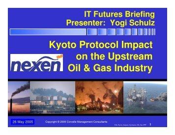 Kyoto Protocol Impact - Corvelle Consulting