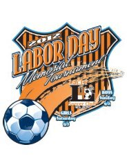 2012 Sponsors for the Lacey Labor Day Tournament