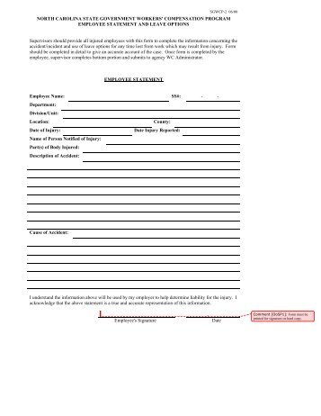 Employee Statement Form Employee Financial Disclosure Examples Of