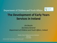 The development of early years services in Ireland - Centre of ...