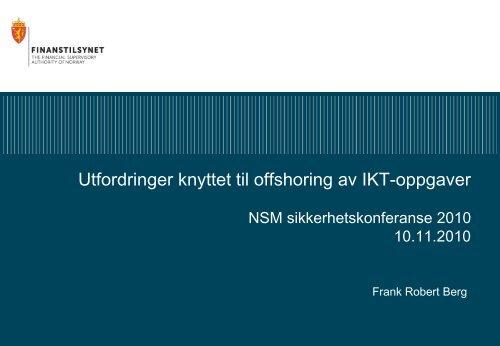 Frank Robert Berg - NSM