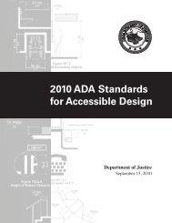 2010 ADA Standards for Accessible Design - ADA.gov
