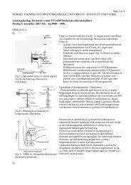 Side 1 av 9 NORGES TEKNISK-NATURVITENSKAPELIGE ...