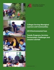Colleges Serving Aboriginal Learners and Communities 2010 ...